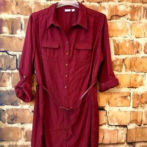 Cato 22/24W Maroon Shirtdress